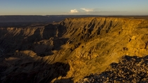 If youre looking for canyons you cant go past the beautiful Fish River Canyon at sunset Namibia