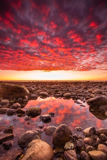 Ignite One of the most amazing sunsets I have ever witnessed here at Tourmaline Beach in San Diego California