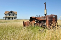 Ill see your  Chevy and raise you an abandoned tractor in ND