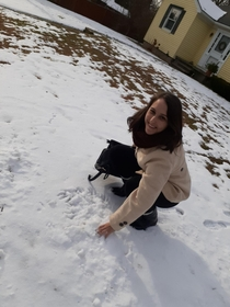 Im from Brazil South America and this was my first touching the snow