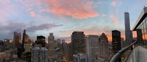 Im no good at taking panoramas but this sunset in Chicago is worth sharing