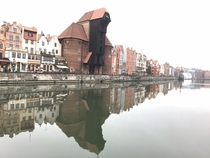 Im not very good with a camera but heres a photo of Gdansk on the river in November