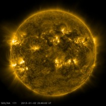 Image of the sun on December
