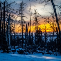 Image taken at sunset in Northern Saskatchewan Canada OC
