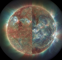 Images of the sun under extreme ultraviolet light