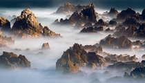 Imagining an epic mountain landscape out of some seaside rocks Haesindang South Korea