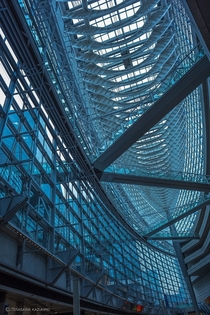 Imposing architecture interior of the Tokyo International Forum  by Kazuhiro Terasawa x-post rJapanPics