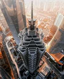 Impressive view from above of one of my favourite buildings in Shanghai China