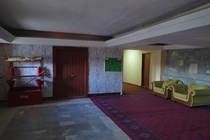 In a disused hotel in Dashoguz Turkmenistan