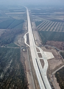 In case of a Soviet attack on NATO air bases a  ft section of the A Autobahn outside Ahlhorn Germany was purpose-built to serve as an emergency airfield for allied fighters and transport craft Video in comments