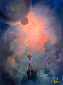 In Contemplation of the Universe by me John Pitre Oil on Canvas