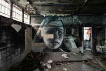 In crumbling abandoned spaces in cities around the globe Melbourne street artist Rones portraits of beautiful women shine  and then theyre gone