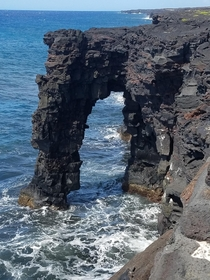 In honor of another sea arch that wont last forever the Hlei Sea Arch at the Hawaii Volcano National Park