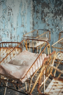 In honor of the th anniversary of the Chernobyl disaster a photo from the maternity ward at the hospital in Pripyat