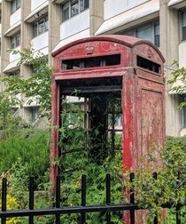 In light of Theresa Mays resignation heres an old English telephone booth