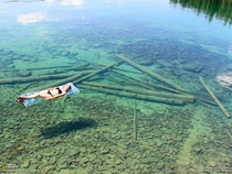In northwest Montana the water is so transparent that it seems like a shallow lake