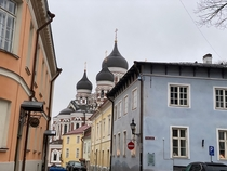 In Old Town of Tallinn Estonia December