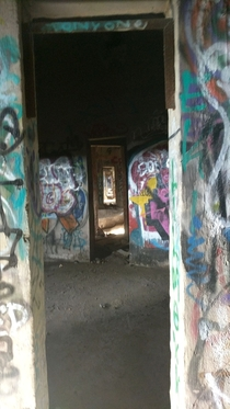 In the basements on the abandoned Damen Silos Chicago Illinois