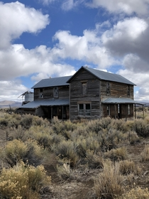 In the deepest depths of southern Oregon where the map ends there is this house on an abandoned ranch Here there be monsters