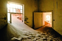 In the Ghost Town of Kolmanskop Namibia