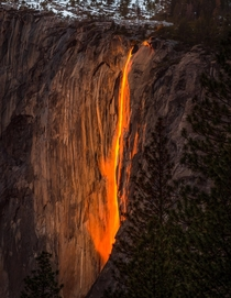 In two weeks you may witness the magic of Yosemite as a waterfall turns into a Firefall