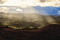 In  years of photography and hiking Ive never seen light like this Its not even the famous view Painted Hills Oregon
