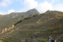 Incan farming terraces Machu Picchu