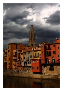 Incoming bad weather in Girona Spain