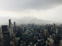 Incoming Storm over Manhattan