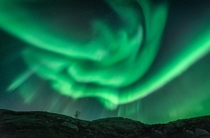 Incredible aurora display over Norway