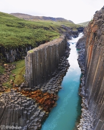 Incredible Basalt Canyon in Iceland  - Instagram hrdur