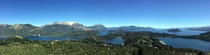 Incredible Blue Alpine Lakes and Mountains around Bariloche Argentina Panorama