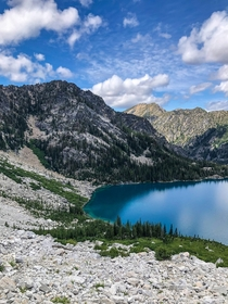 Incredible in all directions here is a snapshot of an alpine lake near Leavenworth WA that does the place very little justice  IGhikedailyprn
