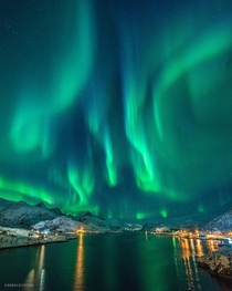 Incredible KP Aurora Borealis over the Lofoten Islands