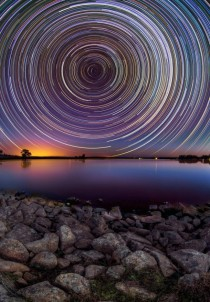 Incredible long time exposure with illumination from stars