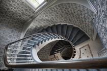 Incredible Spiral Staircase Inside a Vacant  Mansion