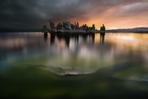 Incredible sunrise at the Mono Lake after a storm