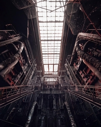 Incredible Symmetry of an abandoned Power Plant in Hungary