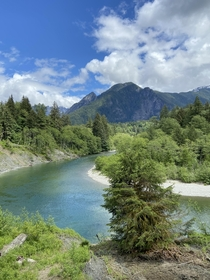 Incredible unedited views at the Snoqualmie River here in Washington last week