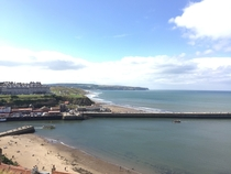 Incredible view of Whitby coastline