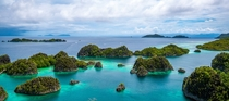 Incredible viewpoint in Raja Ampat Indonesia