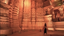 Incredibly detailed walls of the Somnath Temple in India