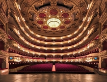 Incredibly elaborate interior of Liceu theater in Barcelona