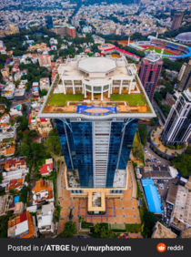 Indian Billionaires abandoned mansion on top of a skyscraper in Bangalore India