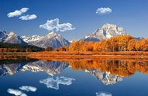 Indian Summer in the OxBow Bend Grand Teton National Park WY  Photo by mbies