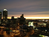 Indianapolis at sunset