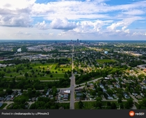 Indianapolis from the air