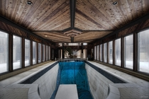 Indoor Pool Inside an Abandoned  Mansion In Toronto Ontario