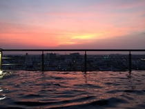 Infinity pools plus sunset
