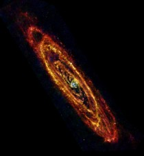 Infrared view of Andromeda from Herschel Space Observatory